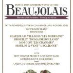 Beaujolais Flyer Event
