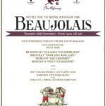 Refinery Beaujolais Wine Tasting Poster